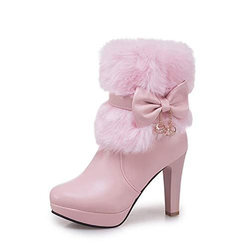 AGECC Süße Prinzessin Schuhe Mit Hohen Absätzen Winterstiefel Schneestiefel Stiefel Stiefel Und Kurze Stiefel.