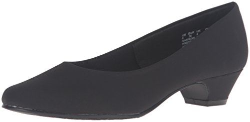 Soft Style by Hush Puppies Women's Angel II Dress Pump, Black Peau De Soire, 9.5 W US ()