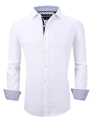 Mens Dress Shirts Wrinkle Free Regular Fit Long Sleeve Bamboo Casual Button Down Shirts 1