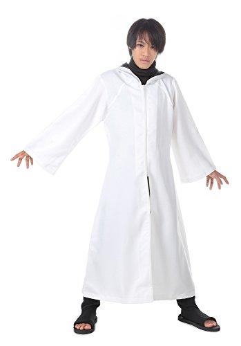 ICEMPs Cosplay Costume Hidden Leaf Anbu Black Ops Hooded White Cloak Robe (Anbu Black Ops Cosplay Costume)