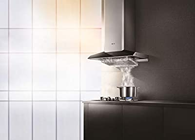 "FOTILE EMG9030 36"" Wall-Mounted Chimney Stainless Steel Intelligent Self-adjusting Kitchen Range Hood with LED Lights"