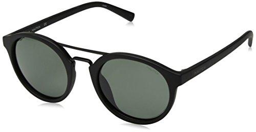 Nautica Men's N3626sp Polarized Round Sunglasses, MATTE BLACK, 53 mm