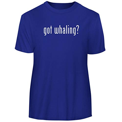 One Legging it Around got whaling? - Men's Funny Soft Adult Tee T-Shirt, Blue, X-Large