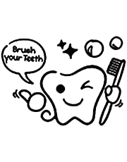 KGJQ Wall Stickers Decor Cartoon DIY Brush Your Tooth Wash Bath Wall Decal Removable Stylish Mural Home Decor Art Sticker for Bathroom Shower Room Office - #2