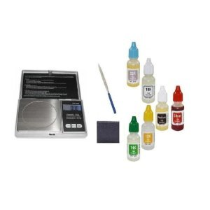 PuriTEST Investors Coin & Bullion Analyzer Testing Kit- 6 Bottles Silver Gold Platinum Acid Tests- Plus Equipment (0.5 Ounce Silver Coin)