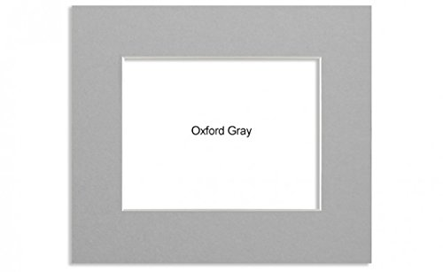 Savage ProMatte, Single 8x10 Photo Mat with 5x7 Opening, Bevel Cut, Acid Free, Single Color: Oxford Gray