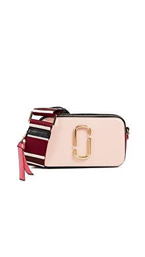 Marc Jacobs Women's Snapshot Camera Bag, Rose, Pink, Stripe, One -