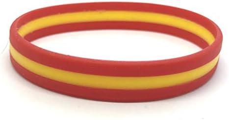 Patch Nation España Bandera España Pulseras de silicona: Amazon.es: Ropa y accesorios