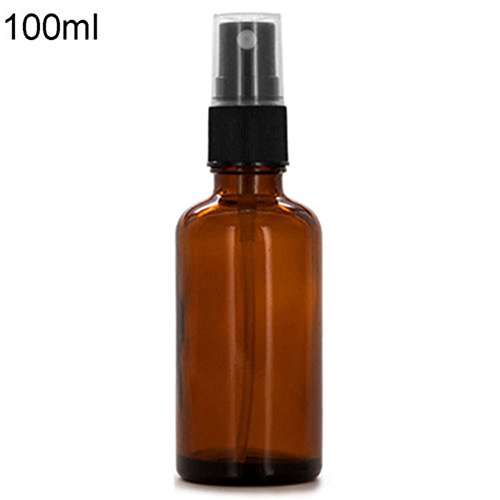 Quietcloud 10/15/20/30/50/100ML Empty Amber Glass Bottle Essential Oil Mist Spray Container size 100ml