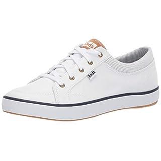 Keds Women's Center Sneaker, White/Grey, 7