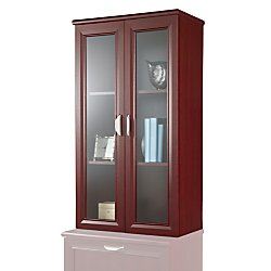 Realspace(R) Magellan Collection 2-Shelf Hutch with Doors, Classic Cherry ()