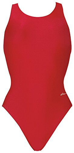 Dolfin Winner Solid Performance Back Swimsuit Womens Red - In Females Bathing Suits