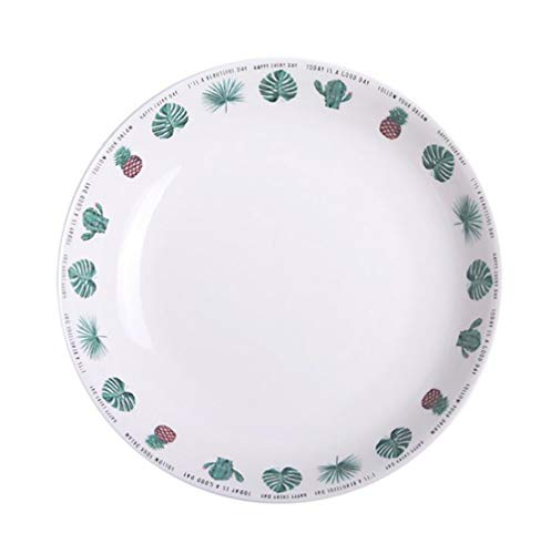 Vegetable Dish, Cactus Pineapple Bread and Butter Plate,Porcelain Platters/Dinner Plate,Wedding Birthday Xmas Gift,8 Inch -