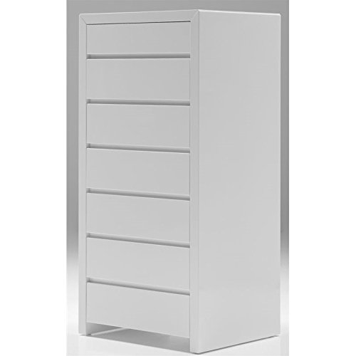 Mobital Blanche 6 Drawer Lingerie Chest in High Gloss White