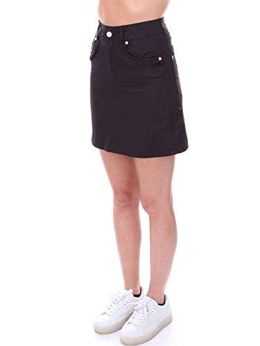 Numero00 Femme 2307black Coton Noir Jupe 8wknP0OX