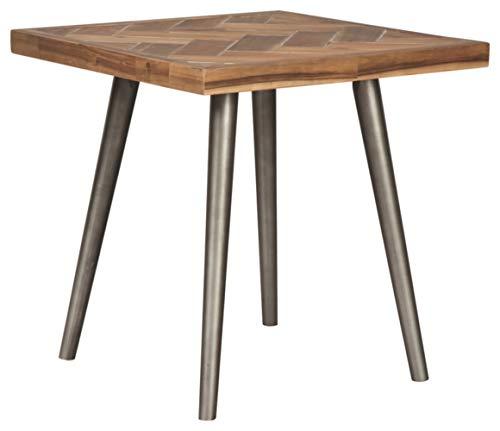 Ashley Furniture Signature Design – Vantori Contemporary Square End Table – Natural Wood Glazed Finish – Light Brown