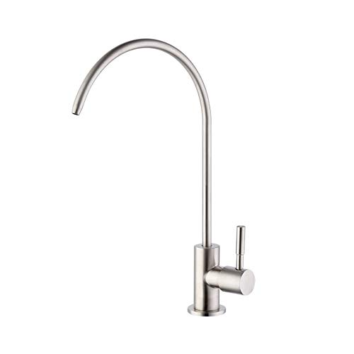(KES RO Water Filter Faucet Kitchen Bar Sink 304 Stainless Steel Drinking Water Faucet Brushed Nickel, Z501C)