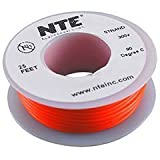 NTE Electronics WH24-03-25 Hook Up Wire, Stranded, Type 24 Gauge, 25' Length, Orange