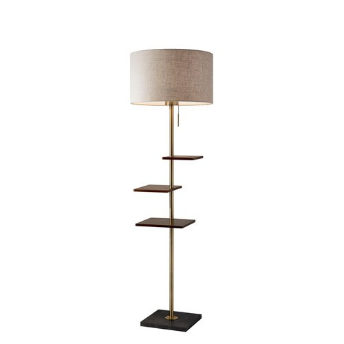 Adesso Shelf - Adesso 3512-21 Griffin Shelf Floor Lamp