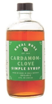 Royal Rose Cardamom Clover Simple Syrup 8oz