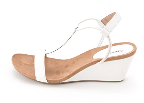 style and co white wedges - 2
