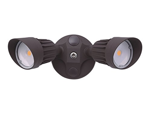 1750 Lumens - LED Wall Light - Bronze - 5000K - No Sensor by RuggedGrade