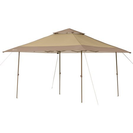 Ozark Trail 13' x 13' Instant Canopy, Tan/Brown, 169 sq.ft Shade Area, Heavy-duty Polyester Canopy, Durable Steel Frame, Waterproof, 50+ UV Protection, WMT-1313114N (Canopy Durable)