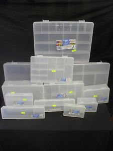 Whatmore Wham Assorted Clear Plastic Hobby / Craft Organiser Storage Boxes 29cm x 18cm x 7.5 & Whatmore Wham Assorted Clear Plastic Hobby / Craft Organiser Storage ...
