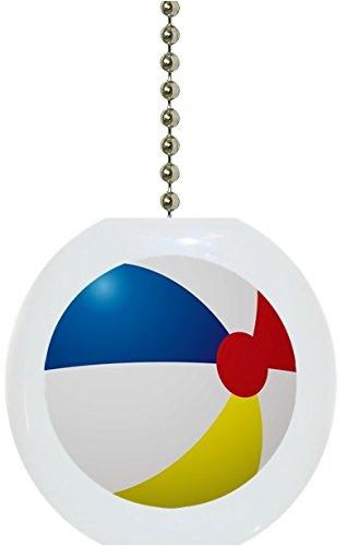 Beach Ball Solid Ceramic Fan Pull]()