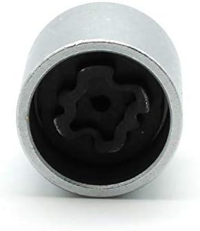 TEMO 530 Wheel Screw Removal Key Anti-theft Lugnut Socket S3056 for VW AUDI VAG
