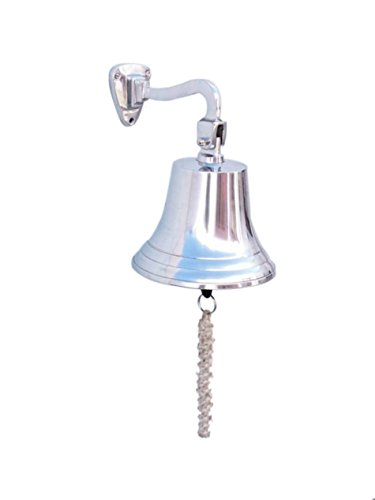 Chrome Hanging Ship's Bell 9