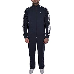 adidas Performance Mens Essential Tracksuit Top & Bottoms – Navy
