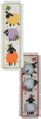 2 Item Cross Stitch Bookmark Kit Bundle : Sheep !