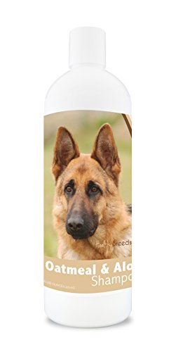 Healthy Breeds Dog Oatmeal Shampoo with Aloe for German Shepherd - Over 75 Breeds - 16 oz - Mild and Gentle for Itchy, Scaling, Sensitive Skin - Hypoallergenic Formula and pH Balanced