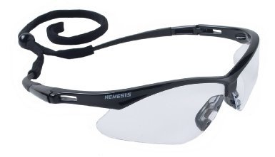 3 Pair Jackson Nemesis 3000354 Safety Glasses Black Frame Clear Lens Kimberly Clark 25676 (Jackson Safety Safety Glasses)