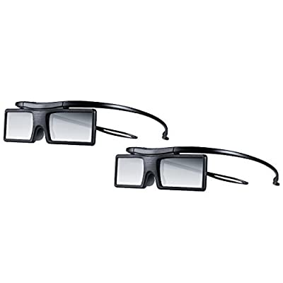 (Pack of 2) Samsung SSG-4100GB Bluetooth 3D Active Glasses Battery Operated - Black