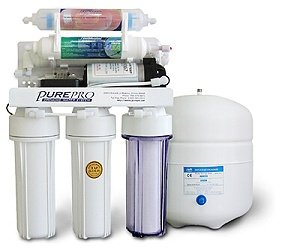 PurePro 6 stage Reverse Osmosis Water Purification System With Infra-Red Filter Pump, 50 Gallons Per Day