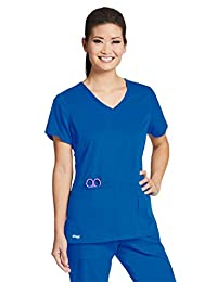 Barco Grey's Anatomy Active 41423 Women's Side Panel V-Neck Solid Scrub