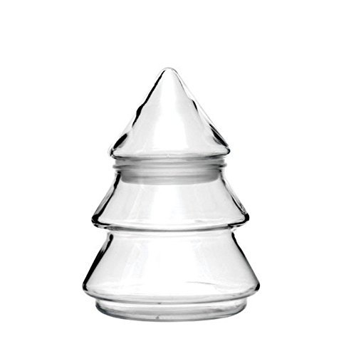 Anchor Hocking 6 Inch Glass Christmas Tree Candy Jar 95723X