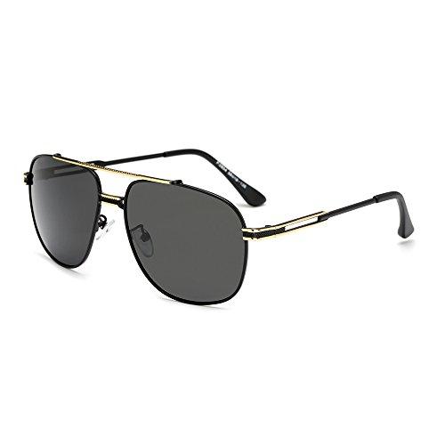 Hombre Grandes de Vintage C4 de UV400 Sol de Gafas Espejo Color de Sol C1 Sol de Hong Gafas Polaroid Gafas para Sol Gafas Moda x8ROTwB