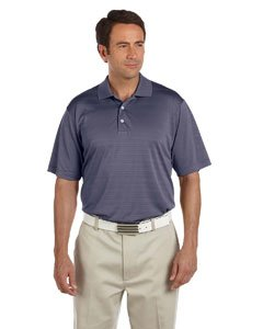 adidas Golf Mens Climalite Textured Short-Sleeve Polo (A161) -Cardinal -S