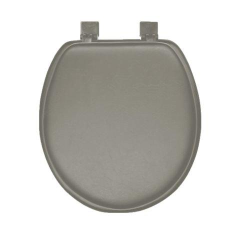 Grey Soft Padded Round Toilet Seat good
