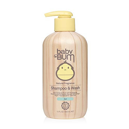 Baby Bum Shampoo & Body Wash Gel - Natural Fragrance - Tear Free – Soap for Sensitive Skin with Coconut Oil and Aloe - 12 FL OZ