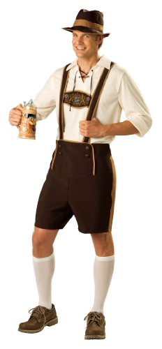 InCharacter Costumes Men's Bavarian Guy Costume, Brown/Tan, - Lederhosen