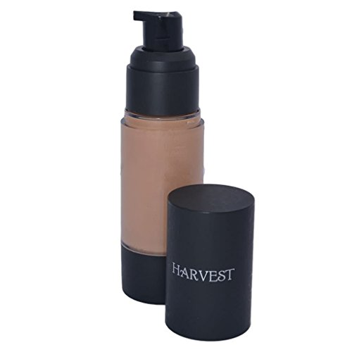 Harvest Natural Beauty - Perfecting Organic Liquid Foundation - Color Adjusting and Nourishing - 100% Natural and Certified Organic - Non-Toxic, Vegan and Cruelty Free (Nude) ()