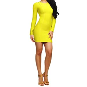 "Lumé Women's ""HEIDI"" Yellow Cocktail Dress SIZE (XS)"