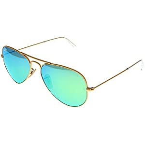 Ray Ban Sunglasses Aviator Gold/ Green Mirrored Lens Unisex RB3025 112/19