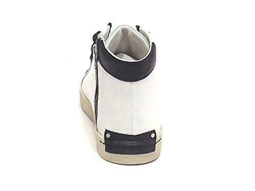 Crime Uomo, 11350, Sneakers Pelle Bianco E8102