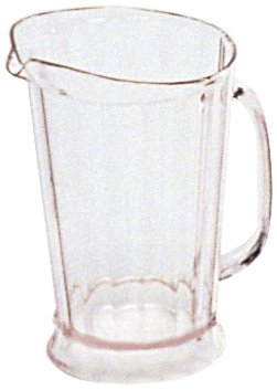Rubbermaid Commercial Products Bouncer Pitchers - Rubbermaid Commercial Products FG333400CLR Bouncer II Pitcher, 60 oz (Pack of 6)