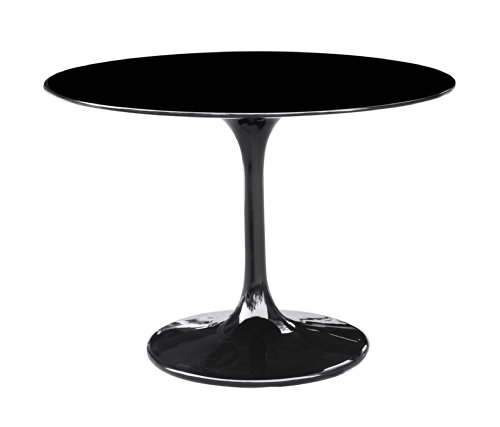 [Fine Mod Imports Flower Table, 42-Inch, Black] (Mod Plastic Flower)